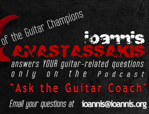 "[VIDEO] Ask the Guitar Coach INT 095 – ""I have problems with the size of my hands. Should I quit Electric Guitar?"""